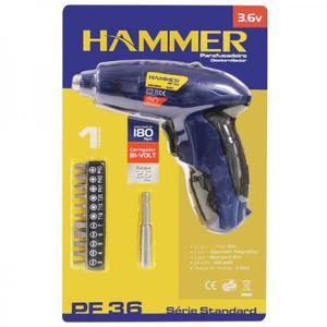 Parafusadeira (Sem Fio) Eletrica (Hammer 3,6v) 11 Bits