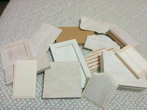 14 peças de madeira para artesanato