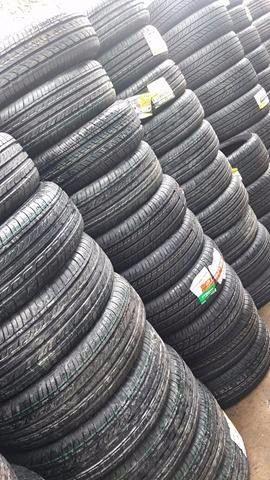 Promoção de pneus novos montado e alinhado