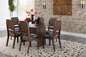 Conjunto de Mesa e 06 cadeiras NOVA, na Caixa