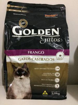 Ração Golden Gatos Castrados Frango 3kg + Brinde