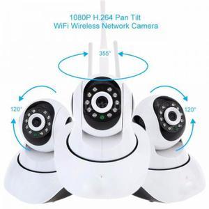 Câmera HD Ip Wi-fi Visão Noturna Com Giro de 360 Graus