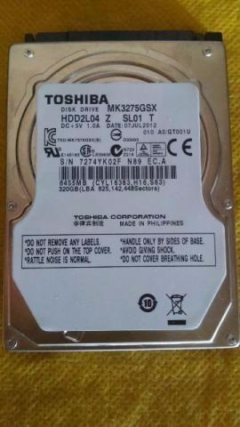 Hd Para Notebook 320gb Toshiba Sata rpm