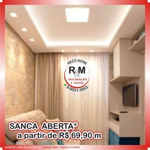 RM Gesso | 3D | Drywall | Sancas | Gesso Liso | Decoração