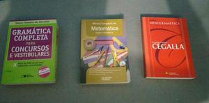 3 livros para enem ou vestibular
