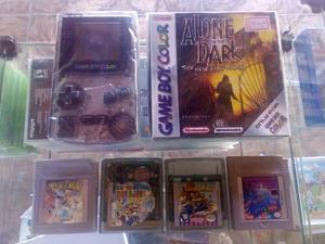 Game Boy Color + 5 Fitas Originais