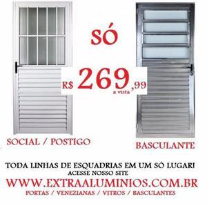 Portas de Alumínio 210 x 80