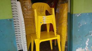 Jogos de Mesas e Cadeiras Amarelas para 140kg