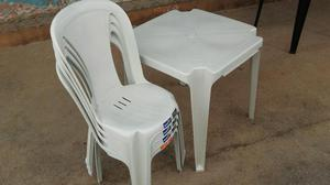 Jogos de Mesas e Cadeiras bistrô Branca a pronta entrega
