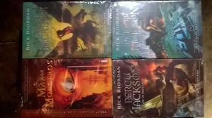 Livros Saga Percy Jackson E Os Olimpianos (vol. 2, 3, 4 E 5