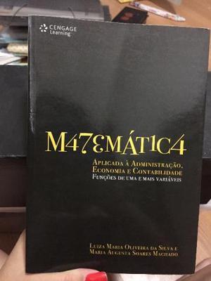 Livro Matemática Aplicada à Administração, Economia e