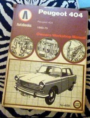 Livro raro, Manual de oficina Peugeot 404