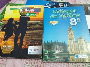 Livros escolares 8° e 9° ano