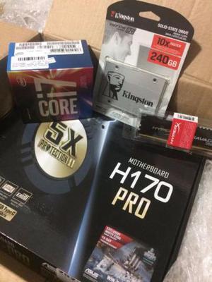 Placa-mãe ASUS, Processador Intel Core i7, SSD 240 GB e