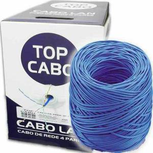 """Promoção Cabo De Rede lan """"Top Cabo"""" cor azul 305mts"""