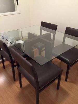Conjunto de Mesa 120x90cm com 4 cadeiras