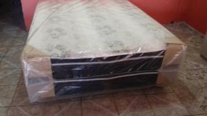 Promoção de cama box casal de mola apronta entrega.