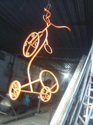 Bicicleta de ferro (Decoração para jardim)