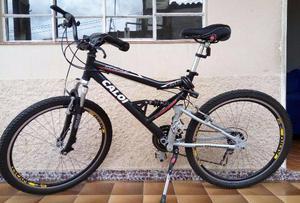 Bicicleta Aro 26 Caloi KS Alumínio com Full Suspension e 21