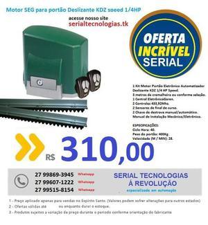 Kit Motor Portão Eletrônico Deslizante Kdz 1/4 Hp 110v SEG