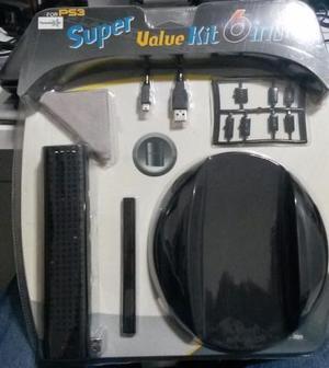 Kit de acessórios para playstation 3 super value 6 em1