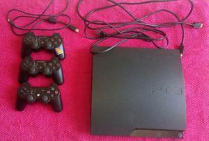 Playstation 3 Slim 160gb Cech a + Acessórios E Games