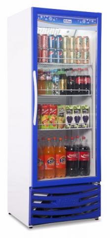 Expositor para bebidas refrigerado com porta de vidro