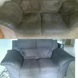Limpeza a seco  jogo de sofá 2 e 3 lugares
