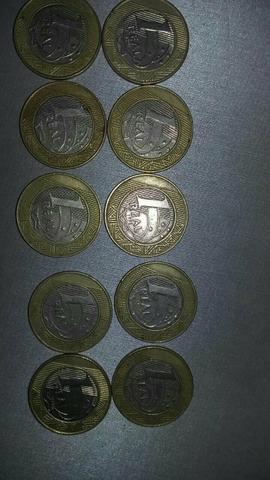 Lote com 10 moedas Raras Real Alpaca