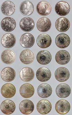 Lote com 220 moedas antigas