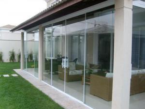 Porta de vidro temperado (Correr/Pivotante/ pra dentro/ pra