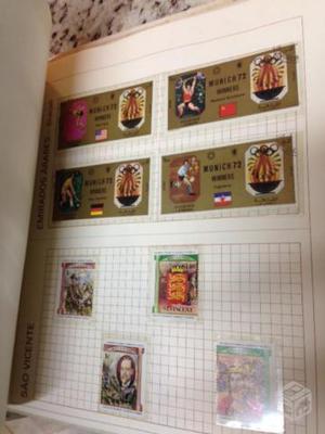 Raríssima Coleção de Selos de 104 Países