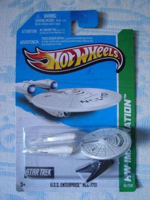 Hot Wheels Enterprise Star Trek Miniatura 1/64