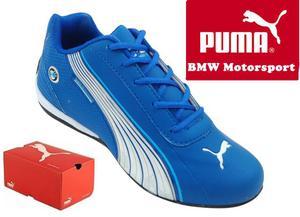 Tênis Puma BMW Motorsport azul e Branco
