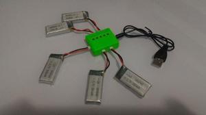 Conjunto com 5 baterias para Drone Eachine E50