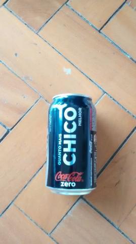 Lata de Coca Cola Zero vazia - nome Chico