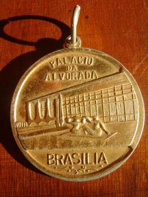 Medalha Palácio Da Alvorada Brasão Do Distrito Federal