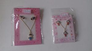 Pacote de 2 peças contendo um colar e um par de brincos