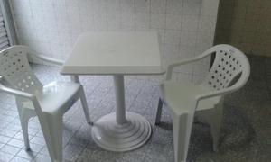 Conjunto mesa/ cadeira 150kg