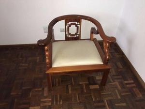 Cadeira Madeira Maciça Mogno Antiga