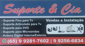 Instalação de suporte fixo em TV LED plasma e LCD em