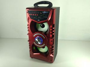 Caixa de Som com Entrada P/ Microfone Dj Led, Potência 12W