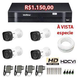 Camera Intelbras Infra Hdcvi 720p Hd b 3,6 Mm kit 4