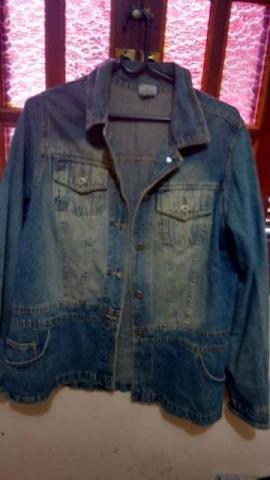Jaqueta jeans t plus feminina