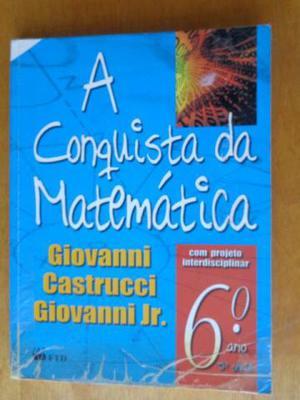 Livro A conquista da Matemática 6º ano