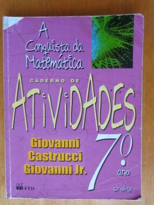 Livro - A conquista da Matemática 7º ano Caderno de
