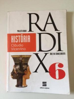 Livro História Projeto Radix Raiz do Conhecimento 6o. ano