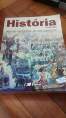 Livro de História volume único ed. saraiva