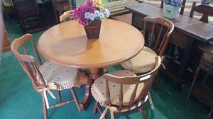 Mesa de Madeira Country com 4 cadeiras