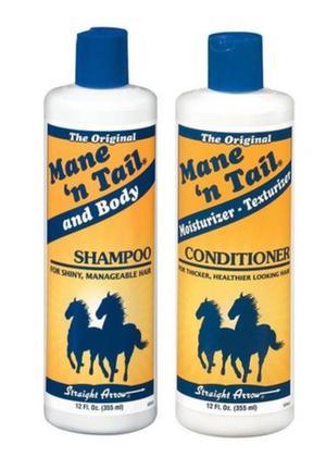Shampoo e condicionador Mane ´n tail